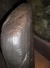 Manx language - An ogham inscription on a stone in the Manx Museum