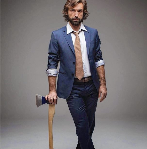 Andrea Pirlo in an Italian suit
