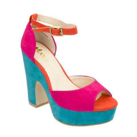 Truffle Color Block Platform Heel  https://www.facebook.com/ShopPreeBruleeColours Block, Block Platform, Platform Heels, Pink Colors, Truffles Colors, Colors Block, Shoes Obsession, Products, Bright Shoes