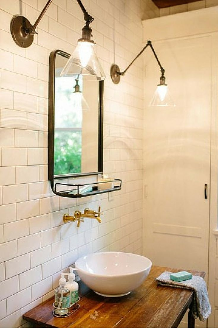 Favorite fixer upper makeovers home bathroom and bowls - Fixer upper long narrow bathroom ...