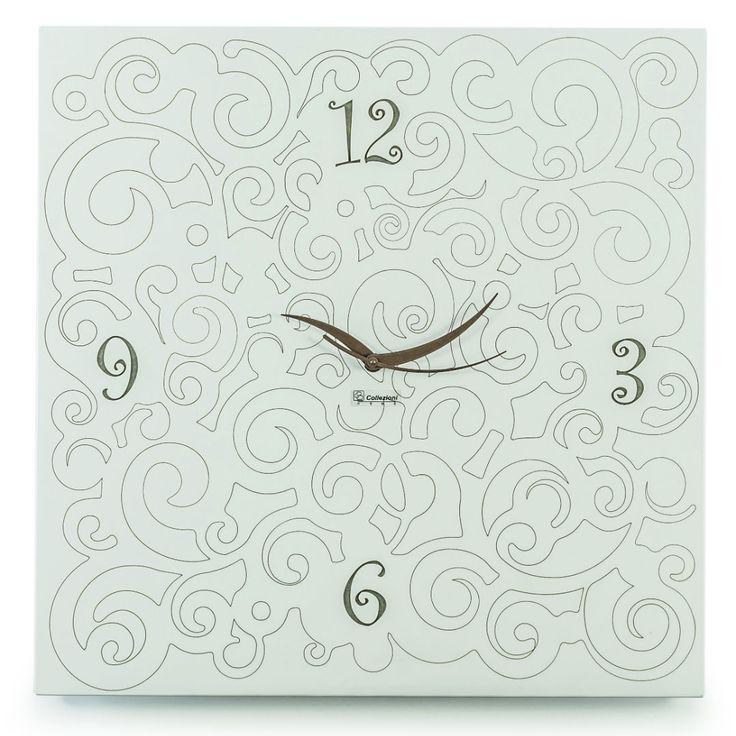 Total white, per l'orologio da parete della Ricci Collection. Laccato (dim. cm 50x50). >> Siamo anche a Battipaglia presso Arteregalo Wedding (via Salgari, 11)