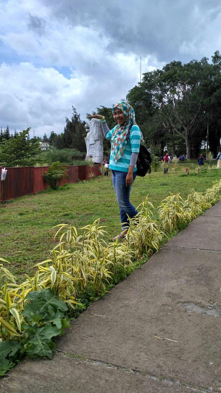 Merlion rasa puncak...#lol @littlevanice cipanas,Indonesia