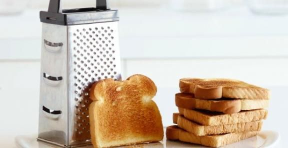 box grater with toast