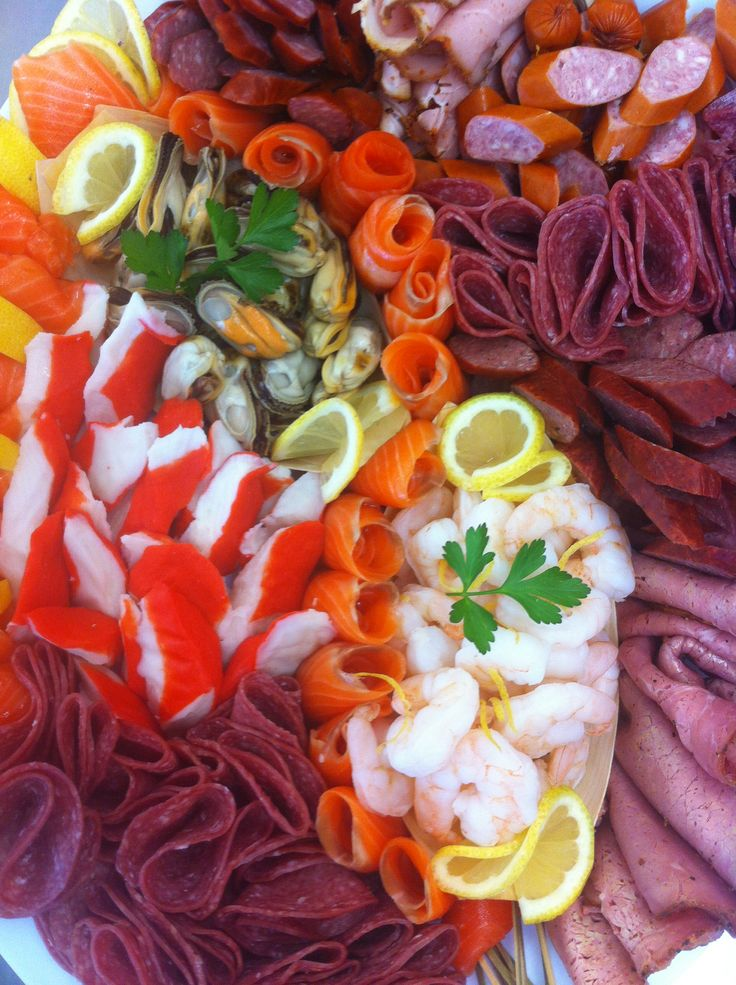 Meat and seafood platter