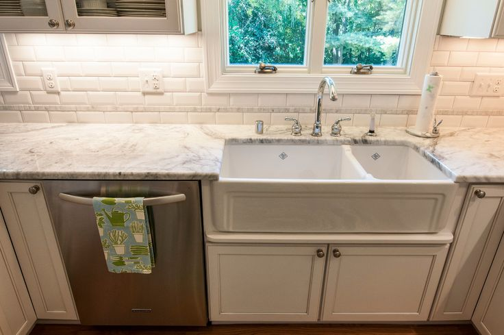 Baroque moen faucets in Kitchen Transitional with Double Faucet Sink next to Super White Granite alongside Ikea Farmhouse Sink and Granite That Looks Like Marble