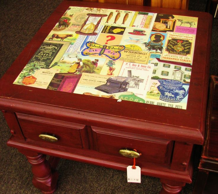 Mod Podge Furniture Ideas Funky Fresh Ithaca Decoupage