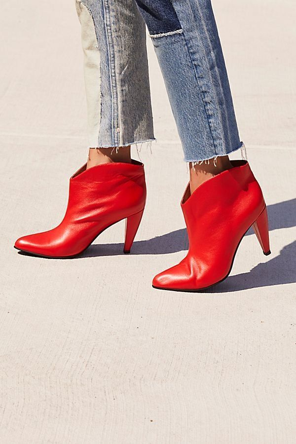 1be50a7e2c9 Hazel Heeled Boot - Cherry Red Heeled Boots
