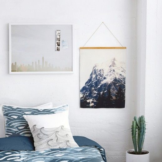 Show off your natural style with a wall hanging that features a photograph by Oanh Tran, an independent artist from Zurich, Switzerland. This unique wall decor is crafted from woven canvas, mango wood, and real leather, and comes ready to hang. Designed for versatility, the tapestry bar is magnetic so you can change up your look with another fabric or art print. Minted is a design marketplace that connects you to the world's best emerging artists to create something one of a kind. A...