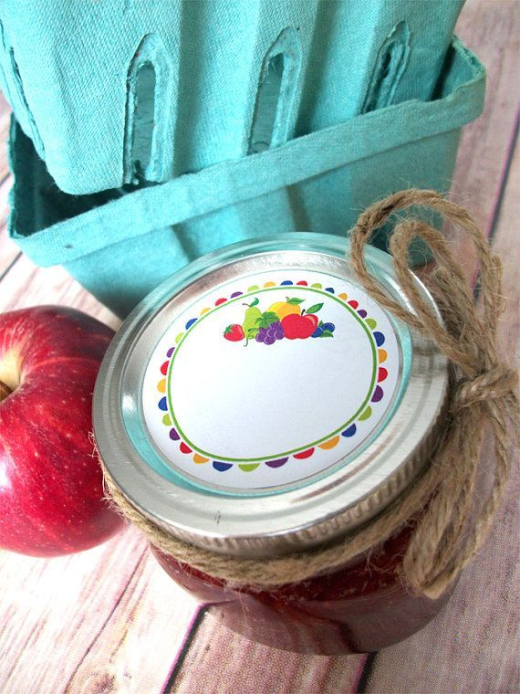 Fun Fruit Canning jar labels for jam jars, CanningCrafts, Etsy $4