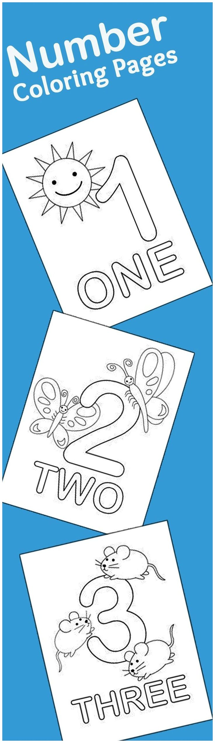 21 Easy To Learn Number Coloring Pages For Kids: This is a list of the top 21 number coloring sheets that you can use to introduce numbering as well as coloring to your kid.