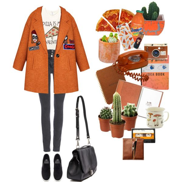 """""""orange is the new black"""". by weirdprincess on Polyvore featuring мода, Wallis, H&M, Proenza Schouler, Casetify, Coach, Shop Succulents, Madewell and Burberry"""