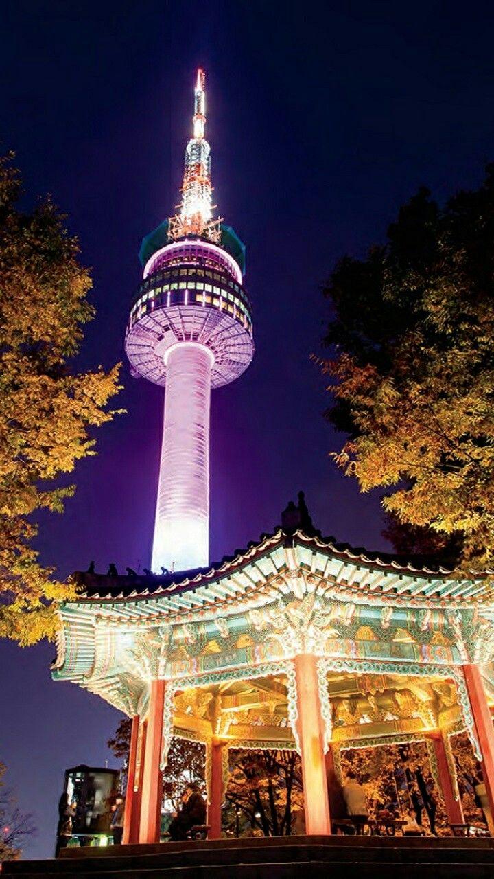 Pin De Gaby Canche En Landscapes Torre Namsan Corea Del Sur Torres