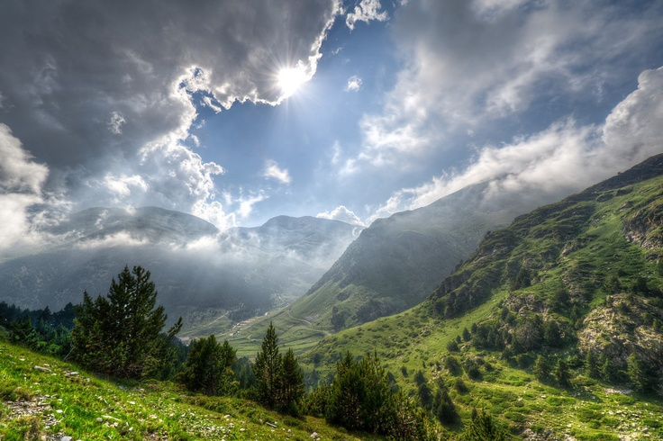 Pyrenees Mountaintops in Vall de Nuria, Spain via everything-everywhere.com