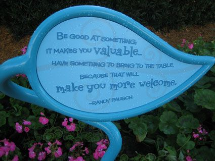 The only non-disney person to be honored at any of the Disney parks. This is by the Mad Tea Party ride. By Randy Pausch