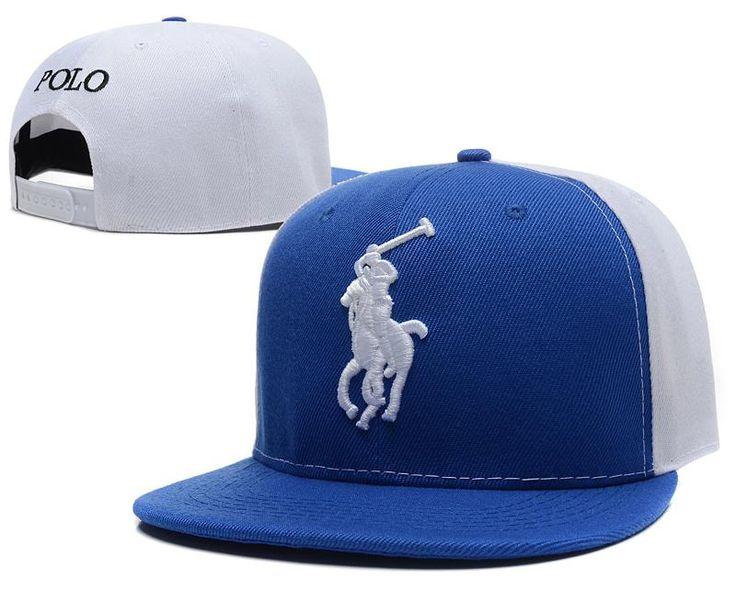 Men's Polo Ralph Lauren Big Pony 3D Embroidered Logo Polo Letter Back Baseball Snapback Hat - Blue / White / Blue