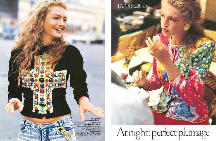 Vogue US - Headlines from Paris - Gabrielle Reece - Nov 1988