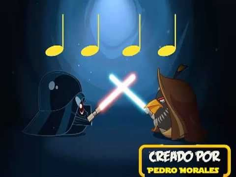 Angry Birds Star Wars (negras y silencio de negra) Grade 1/K  quarter note and rest rhythms :)