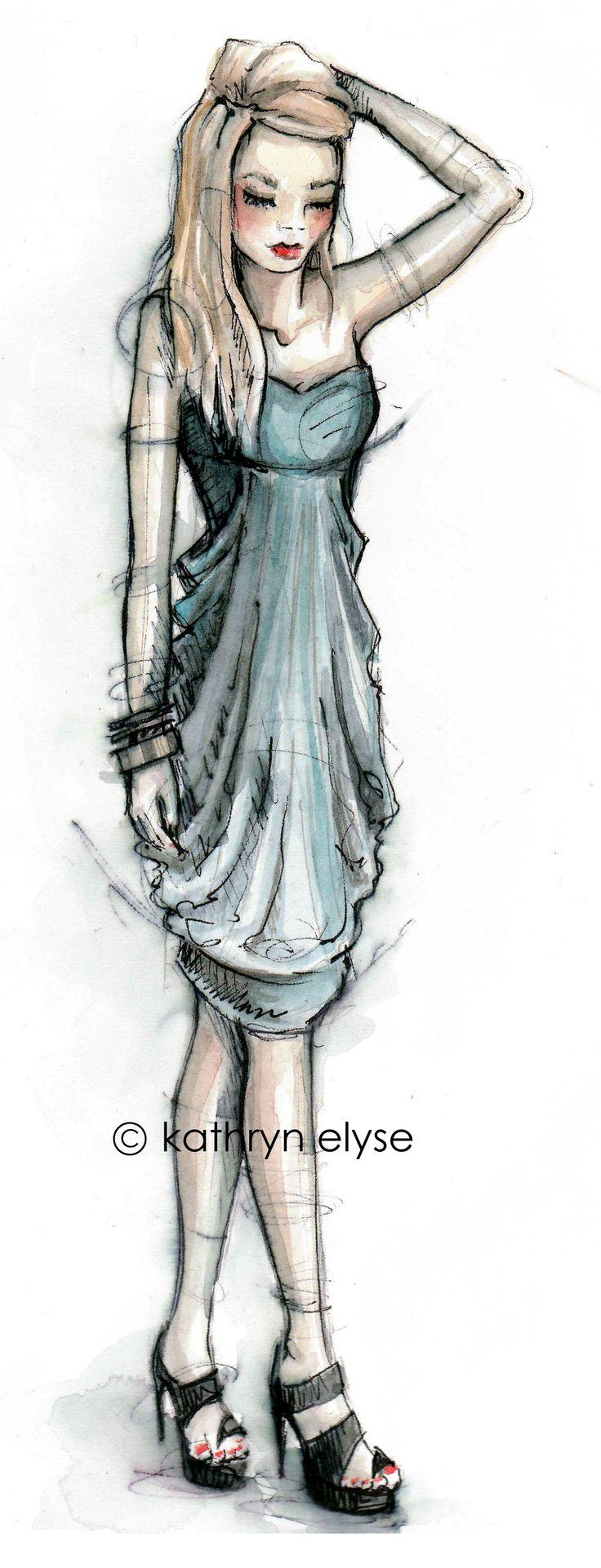 BlueBlue, Rogers Http Paperfashion Nets, Fashion Illustration, Illustration Fashion, Secret Illustration