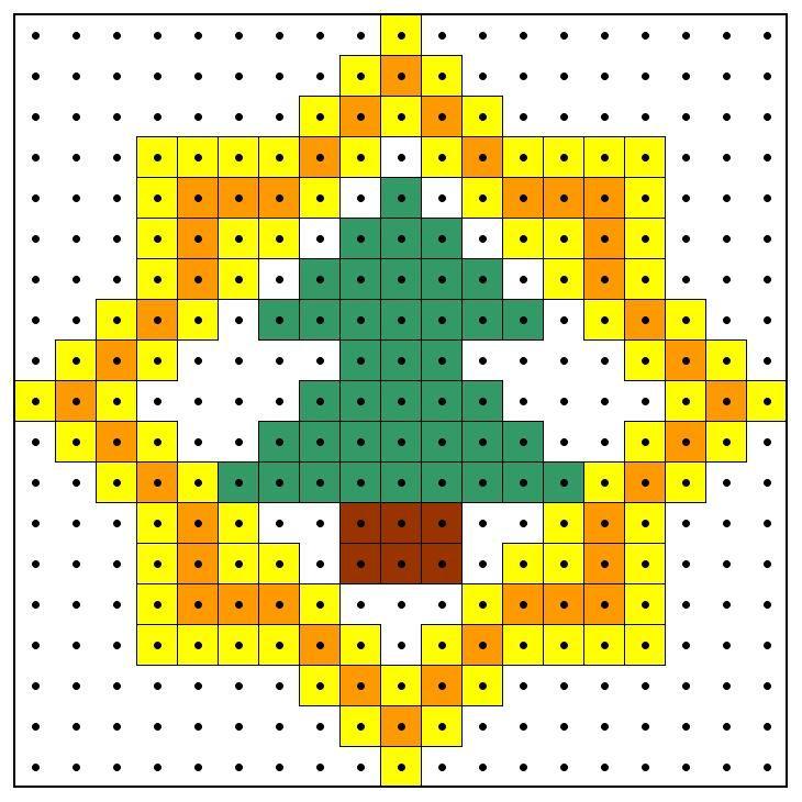 KleuterDigitaal - wb kralenplank ster met kerstboom