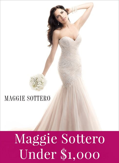 Beautiful Maggie Sottero gown for prices under $1,000!