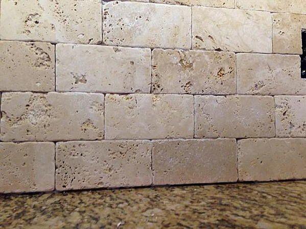 Tumbled Marble Backsplash Sanded Or Unsanded Grout Ceramic Tile Advice Forums John
