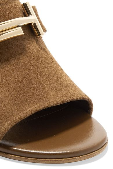Tod's - Suede Mules - Brown - IT39.5