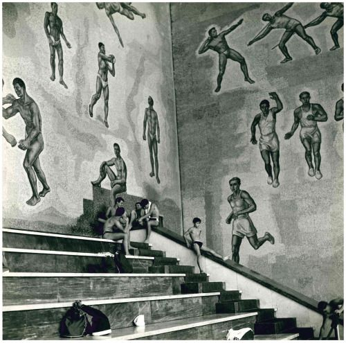 "commiepinkofag: "" Swimming pool at the Foro Italico, Rome, 1958 Photo: Islay Lyons """
