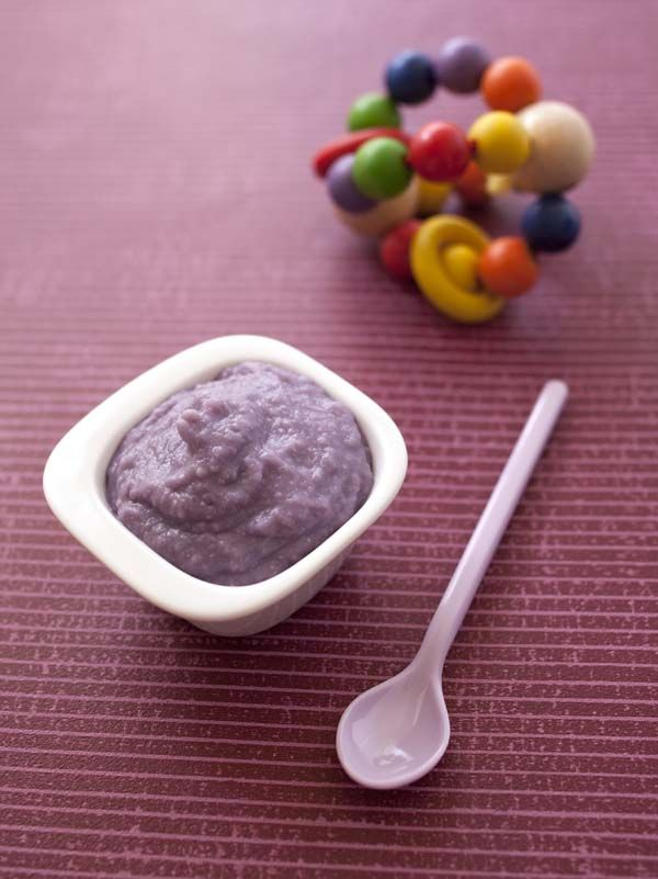 Purée de bébé choux rouge et pâte | Biodélices
