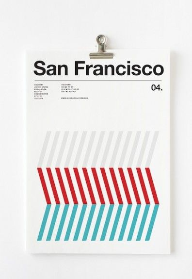 Graphic artist Nick Barclay is back with more of his color-centric posters, cities his latest target including NYC, London, Madrid, Rome and Berlin.