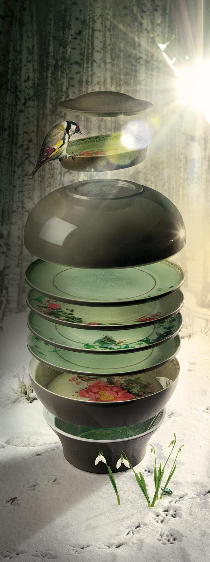 Vajilla de melamina IBRIDE distribuida por Francisco Segarra