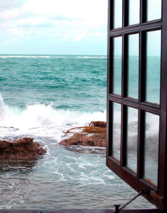 Window to the Sea, Fine Art Photography, Coastal Home Decor, Beach Photography…