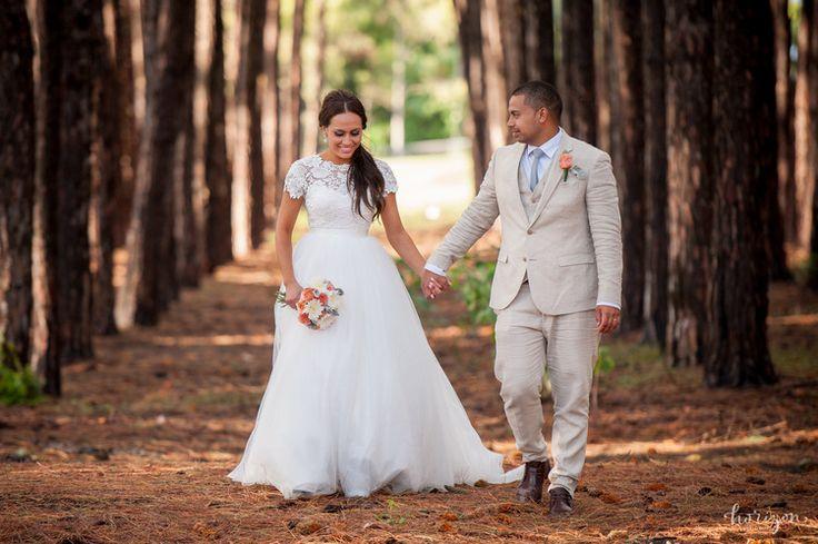 Wedding Photography Gold Coast, bride, flowers, love, natural, lace sleeve wedding dress, Horizon Studios