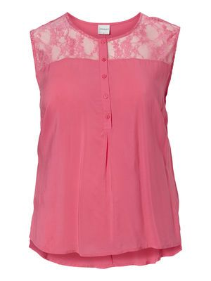 Rose top with lace detailing