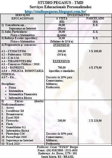 STUDIO PEGASUS - Serviços Educacionais Personalizados & TMD (T.I./I.T.): Preparatório para Concursos Públicos: BANRISUL & P...