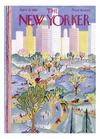 The New Yorker Cover - April 21, 1928 Giclee Print by Ilonka Karasz at Art.com