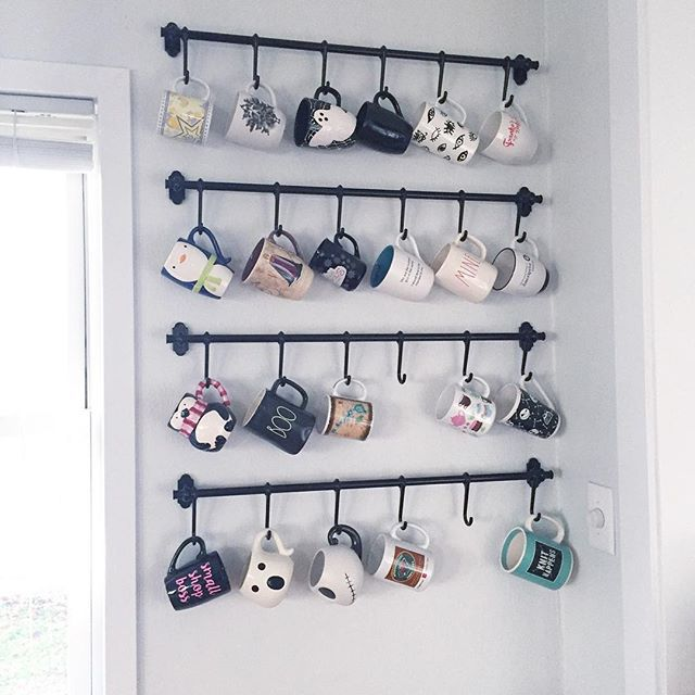 Top 25 ideas about mug rack on pinterest coffee mug for Mug racks ideas