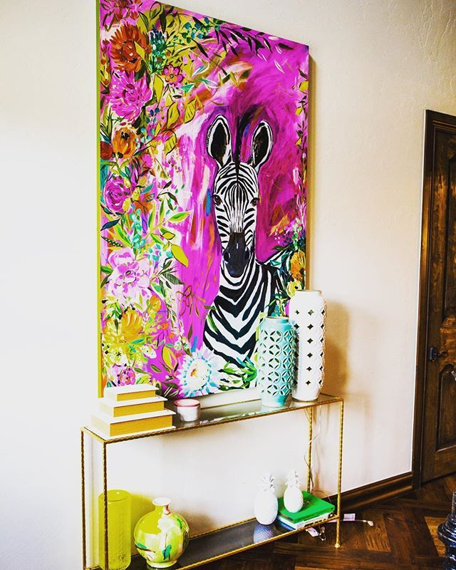Reposting @interiorgilt: How amazing is this painting we just put in one our clients homes! We love it! . . . . . . #interiordesign #painting #interior #interiors #art #zebra #design #interiordesigner #interior123