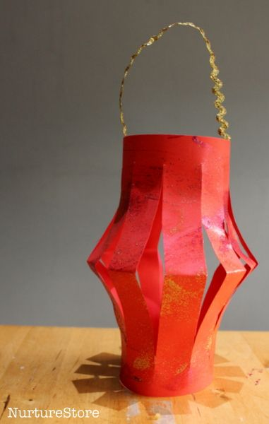 Easy Chinese New Year craft - how to make paper lanterns