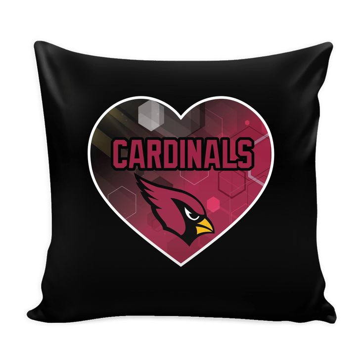 Arizona Cardinals Patterned Heart Pillow Cover (Free Shipping)