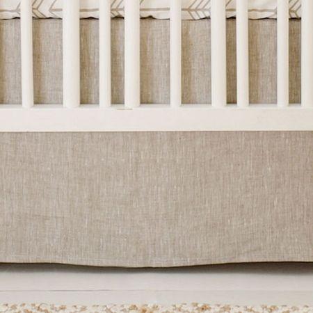Neutral Linen Crib Skirt | Neutral Baby Bedding | Arrow Nursery