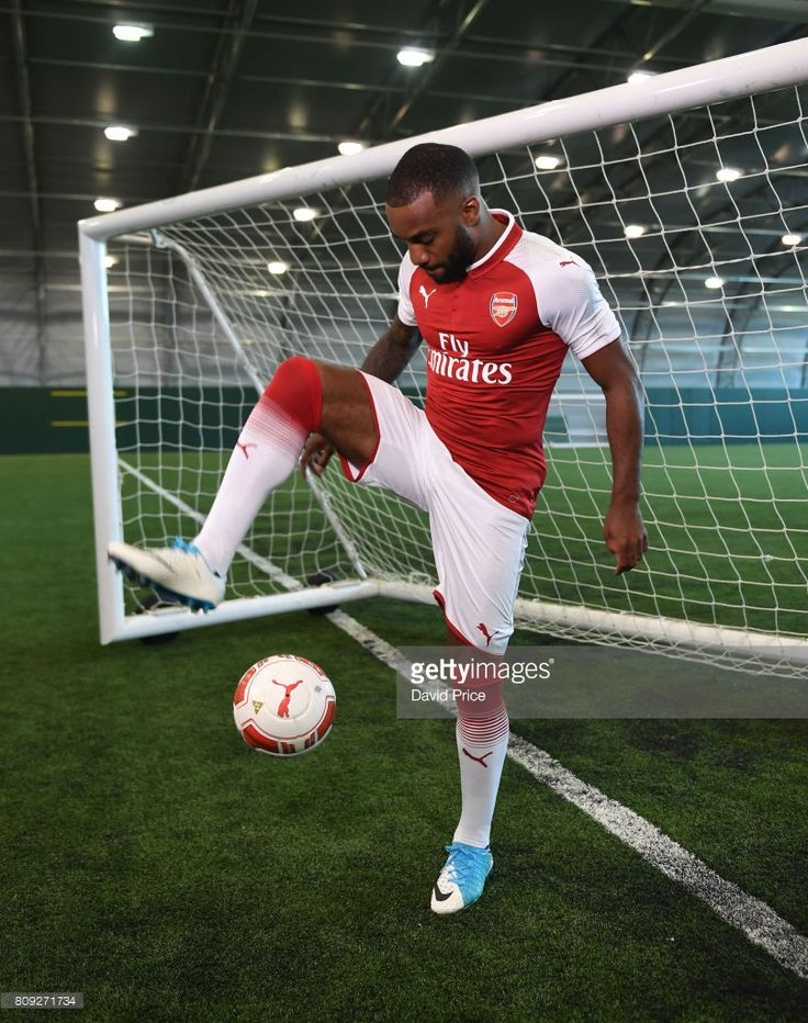 Arsenal's latest signing Alexandre Lacazette at London Colney on July 4, 2017 in St Albans, England.  (Photo by David Price/Arsenal FC via Getty Images)