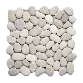 Solistone River Rock Pebbles 10-Pack Brookstone Pebble Mosaic Natural Stone Pebble Floor and Wall Tile (Common: 12-in x 12-in; Actual: 12-in x 12-in)