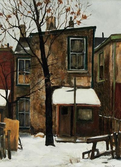 Albert Jacques Franck (1899-1973) - Backyard on Lisgar Street, 1967