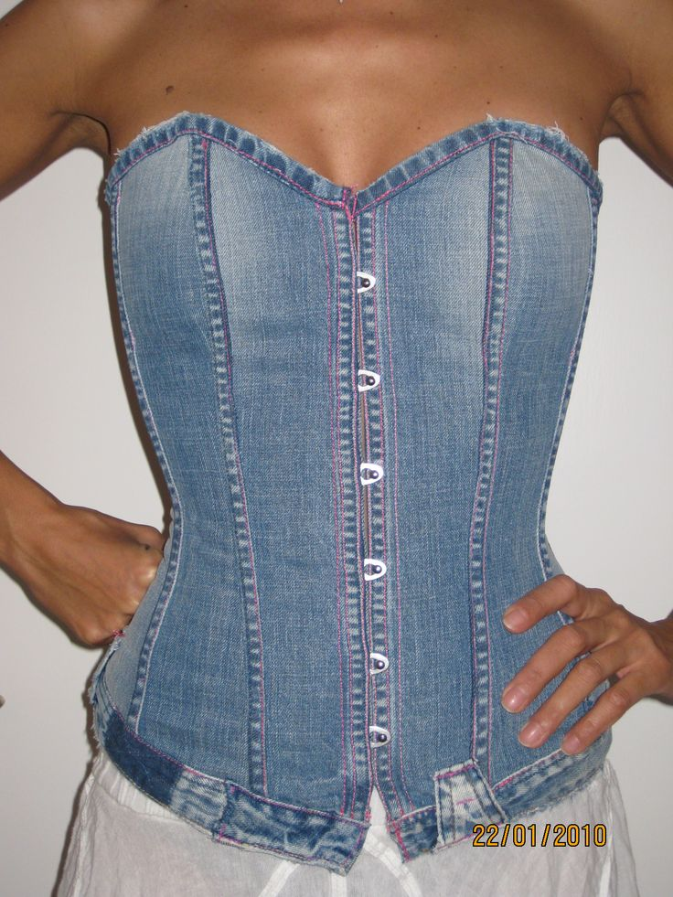 Made out of an old pair of jeans