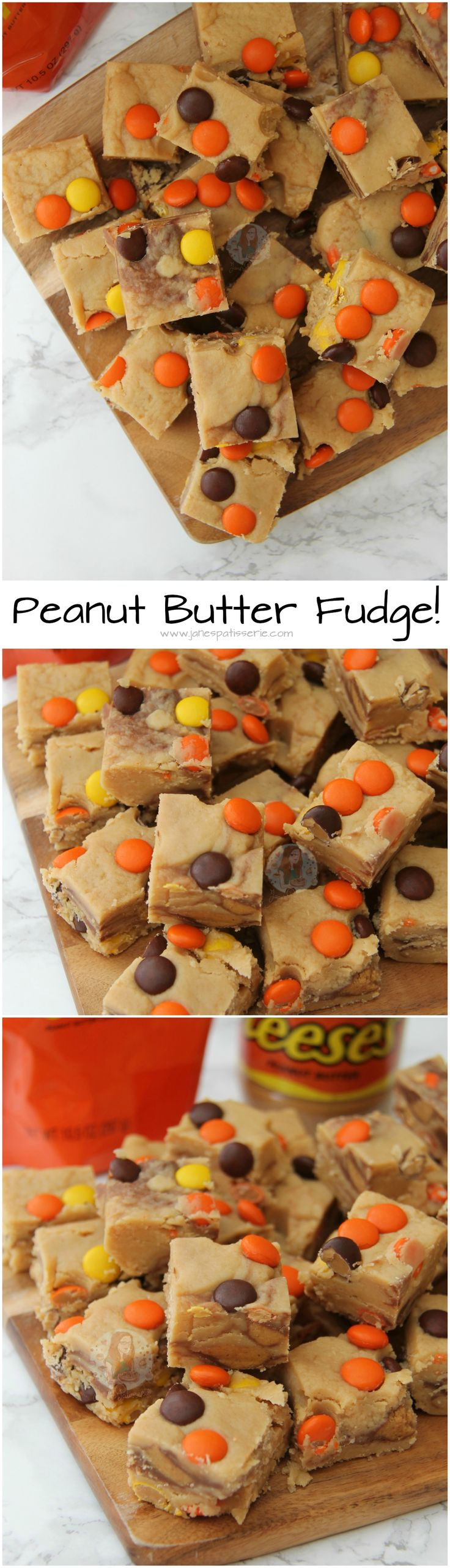 Peanut Butter Fudge! ❤️ Easy, Delicious, and Smooth Chocolate & Peanut Butter Fudge with Reese's Peanut Butter Cups & Reese's Pieces!