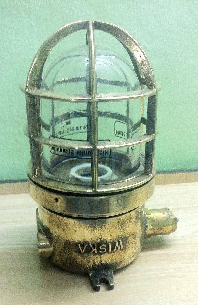 Nautical  Marine Brass Passage Light Wiska #wiska