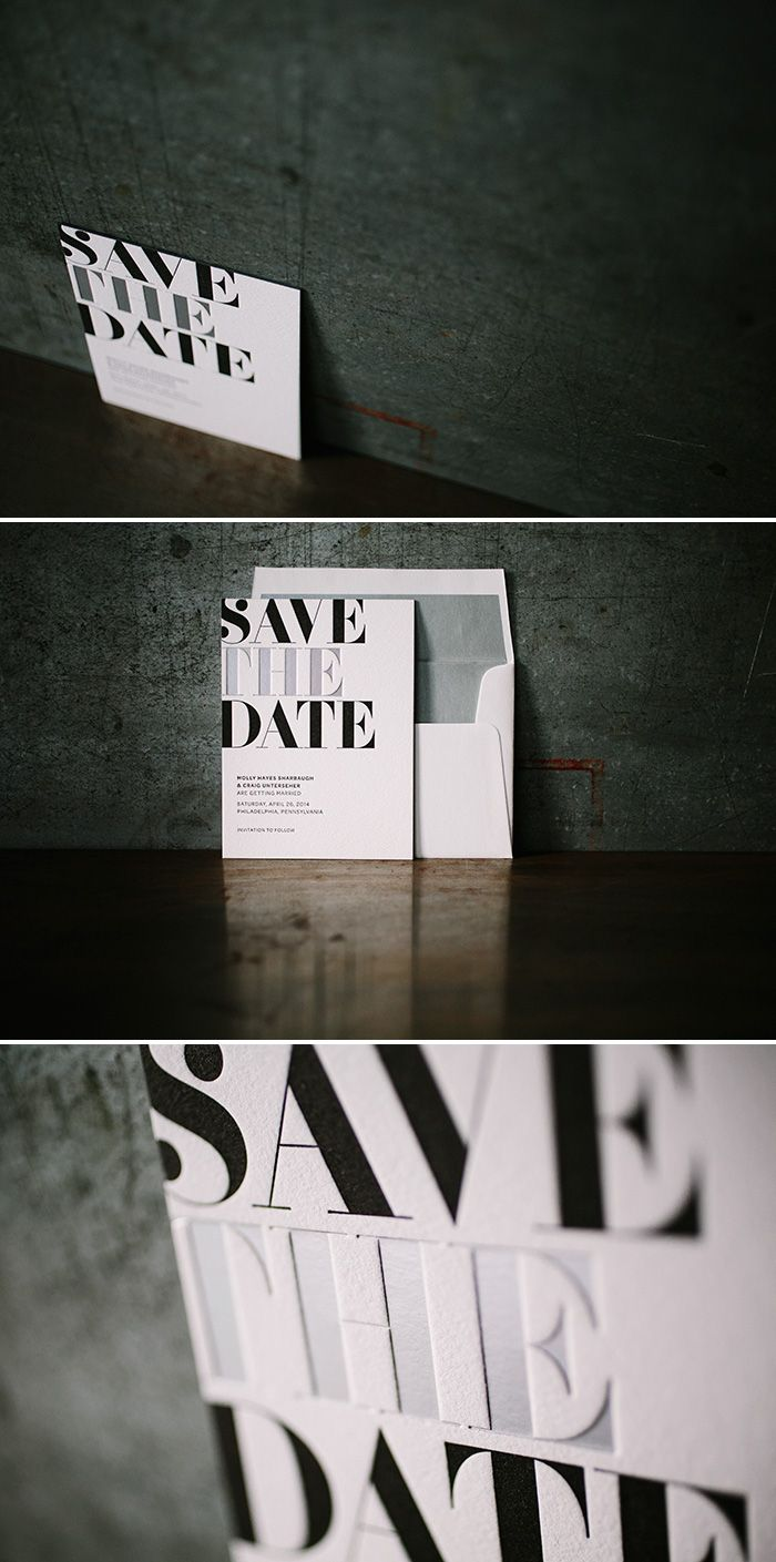 letterpress + foil save the dates | Bella Figura, available at The Windmill www.windmillpaper.com