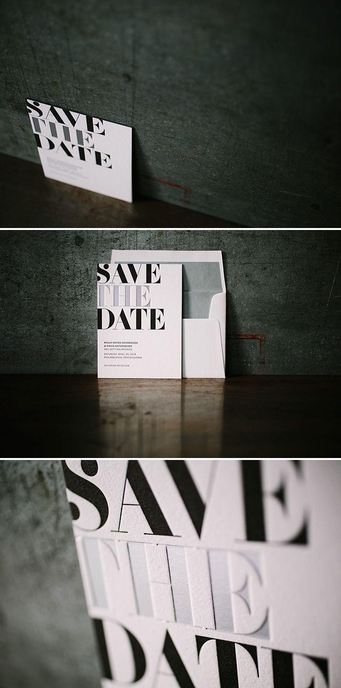 letterpress + foil save the dates | Bella Figura, available at The Windmill www.windmillpaper.com