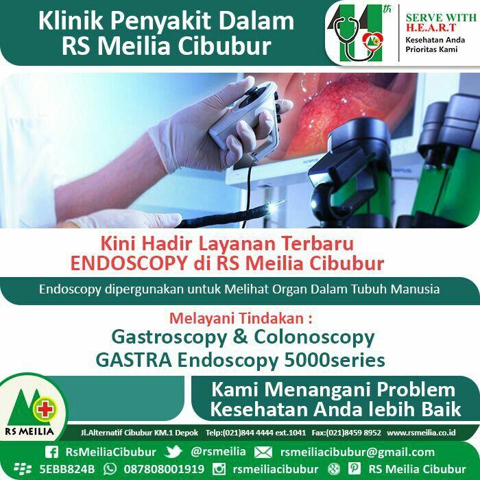 Layanan penyakit dalam dengan Endoskopi di RS MEILIA CIBUBUR • • #rsmeilia #depok #cileungsi #cibubur #rumahsakit #dokter #perawat #jakarta #indonesia