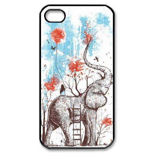 awesome Cool Phone Cases | Cool Elephant iPhone 4 4s Case Hard Back Cover Case for Apple iPhone 4 4s